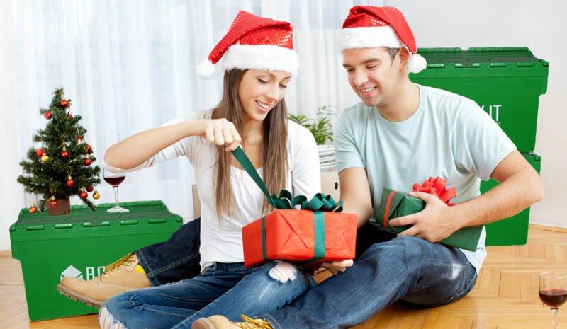 umzug auf Weihnachten