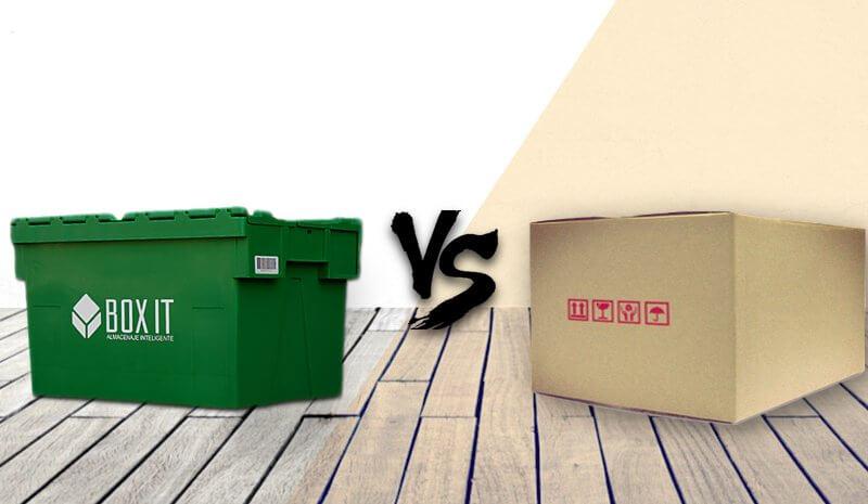 Comprar cajas de cartón para mudanzas o alquilar de plástico