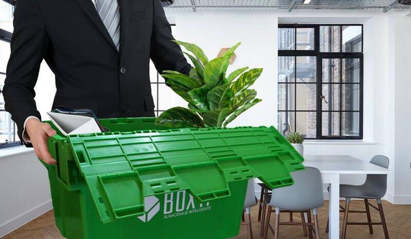 mudanza de oficina con empleados